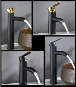 Single Handle Bathroom Basin Faucets Cold Hot Mixer Basin Sink Tap Black Water Kitchen Faucet Bathroom Accessories B3295