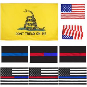 Beni Gadsden Bayrak Açık Stardard Boyut 150x90cm üzerinde 50pcs DHL Amerika Yıldızlar ve Çizgiler Bayraklar ABD Cumhurbaşkanlığı Seçim Bayrağı Dont sırtı