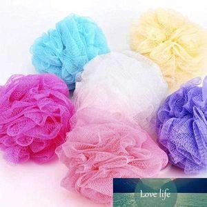 All'ingrosso-rete della maglia Wash sfera del bagno Exfoliate corpo della spugna del soffio Scrub Lily doccia 7 colori