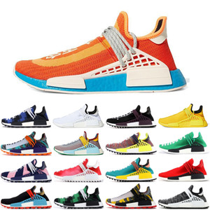 2021 HU Pharrell NMD Mens Human Race BBC red Bold Orange Running Shoes Williams Solar Pack sun calm Inspiration Solar sports runner Sneakers