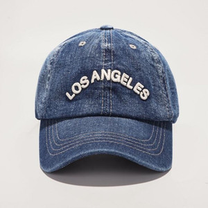 Frühjahr neue Denim Baseballkappen Los Angeles Retro Baseballcaps Unisex Casual Stickerei Hut Freies Verschiffen durch DHL
