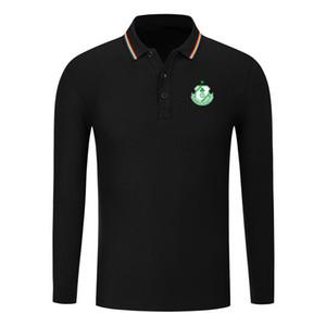 Rovers FC trébol algodón de moda de la camisa larga de la manga de los hombres de la solapa de los hombres de fútbol de polo polo de entrenamiento Jersey camisa de polo delgada hombres de los polos de