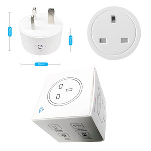 16A UK EU Smart Plug with Alexa,Google Home Audio Voice Wireless Control, 2.4G Wifi Smart Socket Outlet with Android IOS