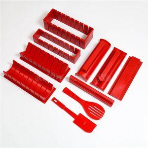 10 pièces / Set DIY Sushi Maker Tools avec spécification Plastique Onigiri Moule Moule Kits de moule de riz Cuisine Bento Accessoires
