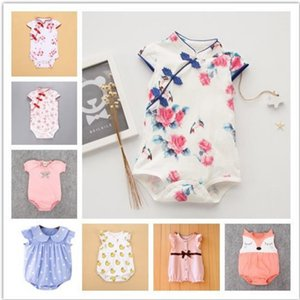 Baby Gir lClothes2020 Summer Chinese Style Rompers floral print New born Baby Clothes roupa menina Infant Baby Girl Romper#osfh