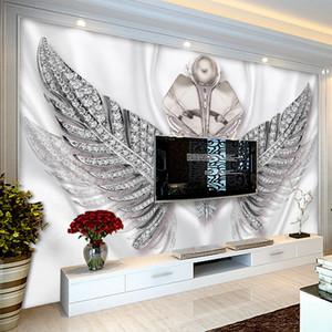 Özel 3D Photo Duvar kağıdı Avrupa Stil Moda Kanatlar Takı TV Arkaplan Duvar Resmi Salon Yatak Odası Dekorasyon Boyama