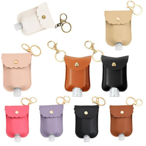 1Pcs Travel Bottle And Keychain Holder Refillable Empty Bottles For Hand Sanitizer Organizer Keychain Key Rangement Zipper Bag1