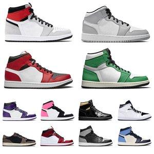 retro 1 jumpman 1s Chicago Light Smoke high low mid Grey Crimson Tint uomini donne scarpe da basket scarpe da ginnastica scarpe da ginnastica