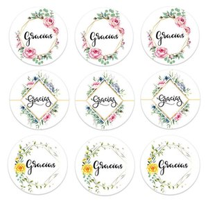 Seal Gracias Thank You for Christmas Packaging Labels Stationery Stickers Baking Gift Bag Decorative V