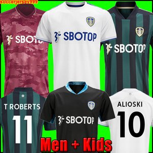Camisa de futebol do Leeds United 20 21 T ROBERTS HARRISON HERNANDEZ COSTA BAMFORD ALIOSKI CLARKE 2020 2021 uniformes de camisa de futebol masculino + kit infantil