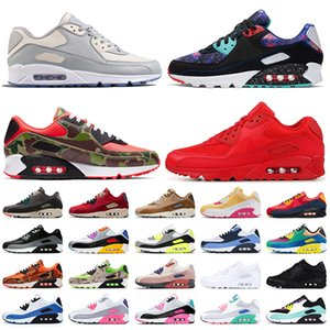 nike air max 90 max air 90 off white 여성 운동화 OG volt green camo essential red bright violet be true mens trainers sneakers