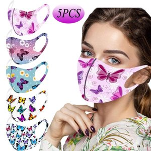 Fast Delivery Masque 15pc Adult Mask Butterfly Printed Mask For Protection Washable Face Mask Headband Within 24 Hours sqcaXH homes2007