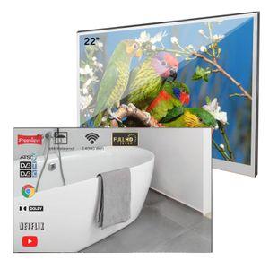 Soulaca 22 pouces LED salle de bains Magic Mirror TV Android 7.1 WiFi IP66 étanche intégré Douche Télévision Hôtel