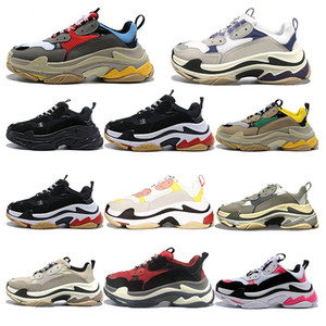 2020 triple s mens women fashion casual shoes vintage sneakers pink red grey purple mens tennis trainers jogging walking outdoor