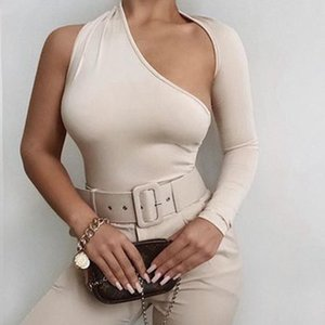 Women Bodysuit Long Sleeve Buttons Rompers Womens Jumpsuit Casual One-pieces Bodysuits suit clothes size Sexy Neck Knitted