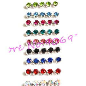 Tongue Ball Screw Gem Stone Crystal Spark Lip Stud Eyebrow Ring 316l Stainless Steel Piercing Accessory 1.6*6mm 1 sqcOQw beauty888