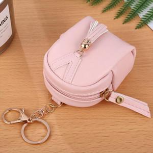 Women Short Tassel Wallets PU Leather Lady Zipper Moneybags Coin Purse Pocket ID Card Bag Woman Mini Wallet Key Ring Purses