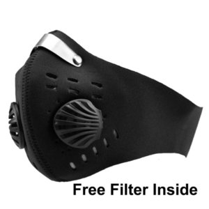 Filter Cycling Face with Respirator Valve PM2.5 Mouth Mask Anti Dust Protective Sports Outdoor Motorcycle Bicycle FFA3438 4 NTPIZ