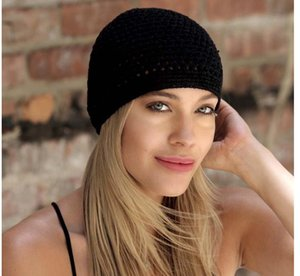 New Handmade Crochet Knit Kufi Hat For Men and Women Fashion Cotton Knitted Koopy Cap Crochet Beanie Sleep hats Bonnets Chemo Caps