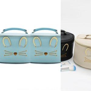 PU huevas bolsas casestorage cosmética redondas de tela Bolsa de almacenamiento Caviar capacidad potslarge esencia de caviar de mano cMflx