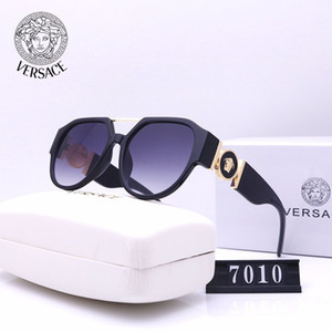 Versace gafas de sol gafas de sol de las pruebas del millonario retro clásico de los hombres de la vendimia estilo unisex 1V de primera calidadmedusa gafas de sol 1V