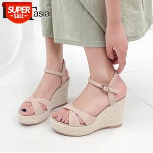 DORATASIA New Sweet Natural Suede Sandals 2020 Heeled Platform Sandals Women Fashion High Wedges Shoes Woman #4X2q