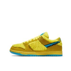 Hohe Qualität Nike SB DUNK Low shoes tanzen gelb Plüschbär gemeinsame Low-Cut-Männer und Frauen Skateboard-Schuhe Outdoor-Schuhe Freizeitschuhe CJ5378-700