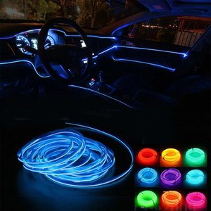 5m Neon LED Car Interior Lighting Strips Auto LED Strip Garland EL Wire Rope Car Decoration lamp Flexible Tube