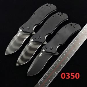 """Нулевая толерантность ZT0350 0350 BK 0350TS Assisted Flipper нож 3.25 """"S30V Тигр полоса простых лезвия, черный G10 ручки EDC инструментальный нож"""