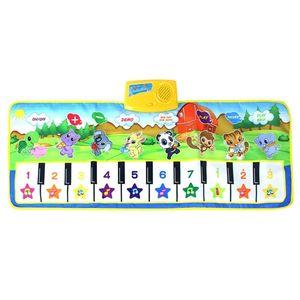 Piano Teclado Dancing Mat Electronic Funny Animal Press Alfombra Manta Musical Juguetes para bebés para niños Niños # 50 201211