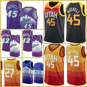UtahJazzJersey Donovan 45 Mitchell Jersey Basketball Rudy 27 Gobert John 12 Stockton Karl 32 Malone Kyle 26 Korver Conley Menasa