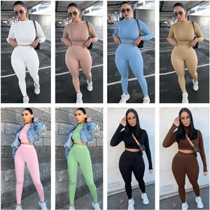 Women Tracksuit Two Pieces Jogging Suits Designer Solid Color Slim Long Sleeve Breathable Trendy Sports Suits New Ladies Outfits 13a