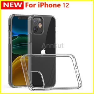 TPU Téléphone cas, pour l'iPhone 12 Pro Max 12 Pro 12 Mini 1,5mm Transparent Acrylique + TPU Téléphone cas antichocs Mobile Phone Cover Shell