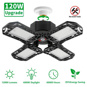 Super Bright 120W 12000lm LED Deformable Indoor Garage Ceiling Lamp E26 E27 Industrial Lighting