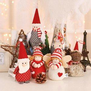 Décoration de Noël en peluche Ange mignon Poupée Pendentifs d'arbre de Noël Hanging ornements Nouvel An Enfants cadeaux Jeux Alio #