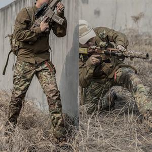 Mege качества Весна Tactical Pants Военная одежда Камуфляж армии штанах до колен Бронированная Airsoft Прочный Dropshipping 200930