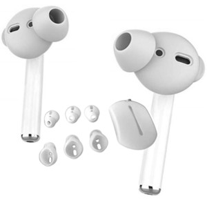 3 Pairs soft Silicone white black Earbuds Cover with Earphone Pouch for Apple Airpods for huawei Bluetooth headset Accessories