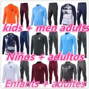 20 21 Echte Madrid Kinder + Männer Erwachsene Chandal Futbol Fußball Trainingsanzug Football Surverement Training Anzug 2020 2021 Fußball Joggin