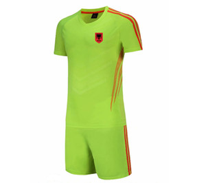 20 21 New Albania Football Jersey Kids Soccer Training Set Soccer Pant Adult Outdoor Sportswear Summer Suits