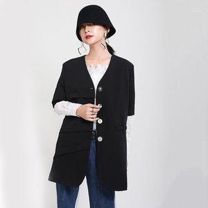 MSXU 2020 Abbigliamento in anticipo Autunno Abbigliamento Donna Irregolare Brato in maniche corte