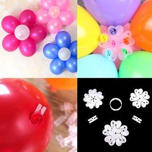 FENGRISE البالونات البلاستيكية كليب بالون ختم اكسسوارات الزفاف حفلة عيد الميلاد الديكور البالون الإبزيم كليب سلسلة المطاط