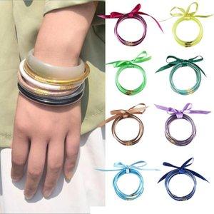 Gofuly браслеты для женщин Модные цвета с лентой Многослойные браслет ювелирных изделий Сувениры Pulseras Mujer Moda 2020