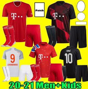 Erkekler Çocuk Kiti 20 21 SANE Lewandowski Gnabry Futbol Forması 2020 2021 Jersey İnsan Yarışı Futbol Gömlek Coman 4. Üniforma