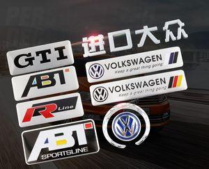 It is suitable for Volkswagen sticker, new speed CC Maiteng Long Yi Passat road view modified metal sticker aluminum alloy rear sticker