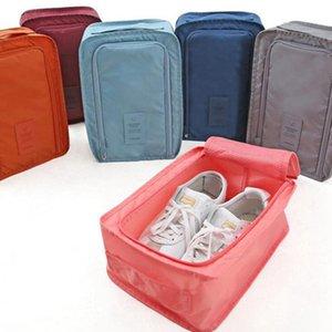 Bolsa de zapato impermeable sólido Viaje Bolsa de almacenamiento de zapatos plegables zapatos bolsas de asas Organizador de ropa de gran capacidad Bolsas de almacenamiento WY1069