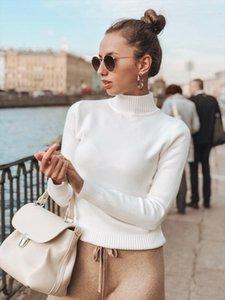 Maglione dolcevita donne pullover maglione sottile maglia di cachemire donne Autunno Inverno 2019 Maglioni Sweter Robe Pull