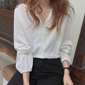 Casual Women Shirts and Blouses Cotton Autumn Long Sleeve Shirt All-match Loose Korean Chic Clothing Blouse Blusas Mujer 11682 201027