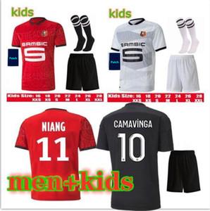 20 21 Stade Rennais Camavesa Maillots de Foots 2020 2021 Rennes 7 Raphinha 11 Niang 14 Bourigeaud 21 Andre 23 Camicia da calcio Hunou