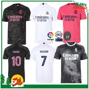 20 21 21 Real Madrid Jersey Football Jersey Benzema Vini JR Modric Asensio Sergio Ramos Hazard 2020 2021 Adult Men + Kid Kit Camicia da calcio sportivo