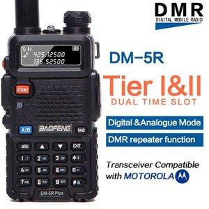 무전기 토키 Baofeng DM-5R 플러스 DMR 계층 12 휴대용 라디오 디지털 아날로그 모드 기능 Moto와 호환 가능